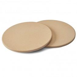 Στρόγγυλη Πέτρα Ψησίματος για Πίτσα Napoleon (Σετ 2τμχ) 70000 img 1